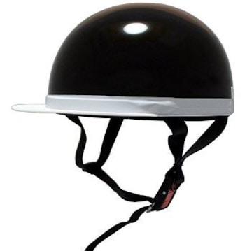★送料無料★ バイク 半ヘルメット 白ツバ 黒 他カラー有