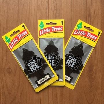 【送料無料】リトルツリー 芳香剤 お得3枚セット/ブラックアイス