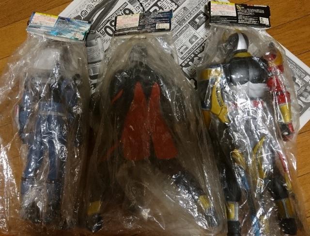 今は激レア!懐かしい仮面ライダー/ビッグサイズソフビフィギュア3体まとめ売り < ホビーの