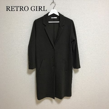 RETRO GIRL カーキチェスターコート
