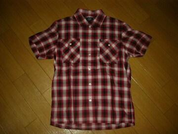 美中古WTAPSダブルタップスVATOSチェックシャツS赤系半袖