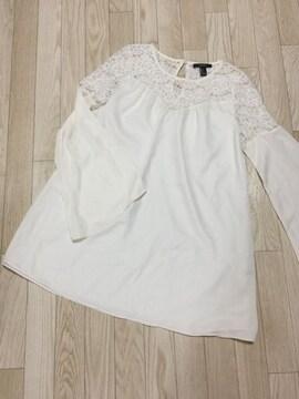 S133/FOREVER21/Sサイズ/クリーム/長袖/トップス/