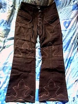 新品エーアンドジーA&Gジーンズ34フレアニー シルバー925