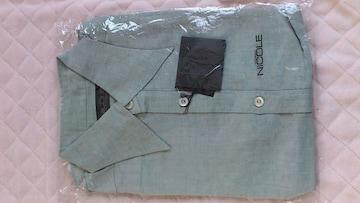 訳あり激安87%オフニコル、半袖シャツ(新品、灰、日本製、M)