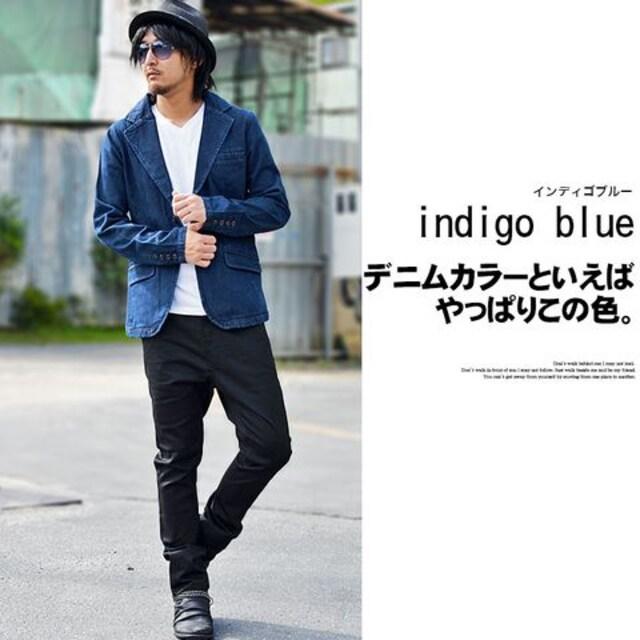 2Bテーラード10オンスデニムジャケット73248新品インディゴM < 男性ファッションの