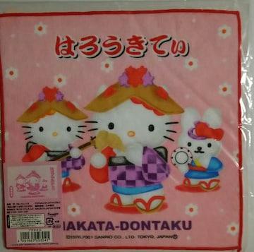 ☆福岡限定 博多どんたくキティ プチタオル 2001☆