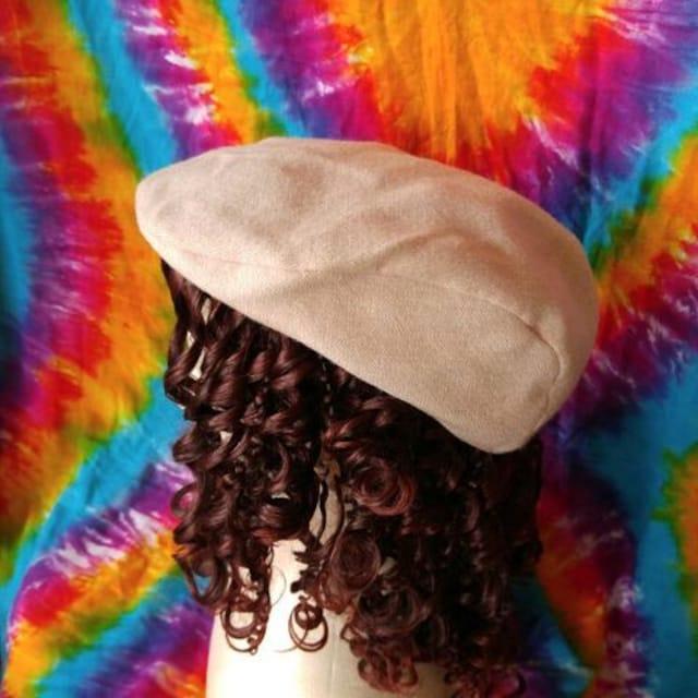 激カワッ(人´エ`*)♪ピンクベージュがオシャレ♪ハンチング帽子  < 女性ファッションの
