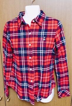 �Fネルシャツ 赤