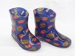 モンフレール レインブーツ 7008 14.0cm バーガーブルー 長靴