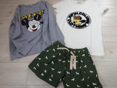 新品/ミッキー柄 Tシャツ ロンT 3点セット/