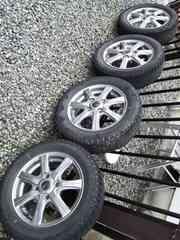 155/65R13新品スタッドレスタイヤ中古アルミホイールワゴンRムーブ1本1万×4