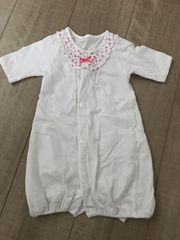 美品カバーオール50〜60白2way新生児〜女の子出産予定の方