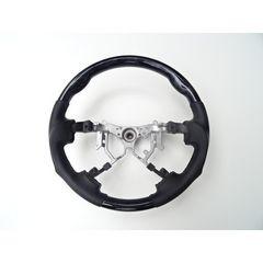 トヨタ 黒木目ブラックウッドステアリングハンドル ハイエース 200系 4型 ガングリップ