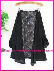 夏新作◆大きいサイズ3Lブラック◆背中花柄レース切り替えカーデ