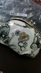 新品 レア CLATHAS クレイサス ポーチ がまくちホワイト