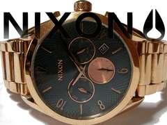 良品 1スタ★NIXON ニクソン【大型】50m防水 メンズ腕時計