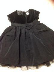 半袖ドレス・黒90センチ