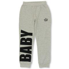 新品BABYDOLL☆ロゴ パンツ 140 グレー ベビードール