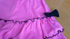 160�p ピンク キュロット 女の子 両端 リボン スカート