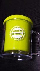 新品 2013 Hiroshima GIRL'S KEIRIN記念品(カラフルマグ・黄緑)