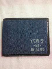 LEVI'S リーバイス デニム ジーンズ 生地 財布 インディコ ブルー カード 収納