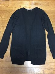BLACK BY MOUSSY*ロングカーデ*黒
