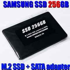 送料無料 即決 サムソンM.2 SSD 256GBと2.5インチSATA変換ケース 7mm厚 セット