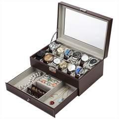 腕時計収納ケース ジュエリーケース 12本 ブラウン