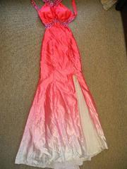 スワローテイルの薄ピンクロングドレス 送料500円