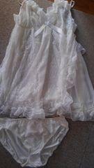6Lサイズ!清楚なウエディングドレスみたい!ベビードール!スリップandショーツ!セット!