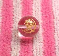 水晶14mm金色◆戦国武将「直江兼継」