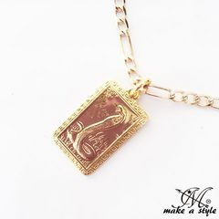 コブラ 蛇 フィガロ チェーン 金 ゴールド GOLD ネックレス 595