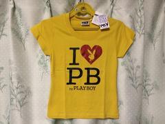 新品未使用プレイボーイPLAY BOY半袖Tシャツ黄色からし色