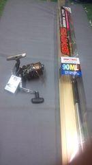 シーバス ロッド90MLとリール4000(シマノ・アルビオ)セット!