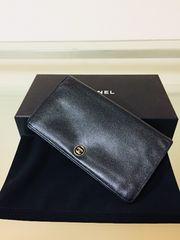 1円 ◆正規品◆ 超美品 シャネル レザー 長財布 ブラック