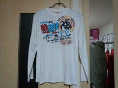 新品:サイズM:白にホヌ柄、長袖Tシャツ