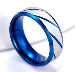 新品 1円〜★送料無料★ 12号 クール波彫刻ブルーリングK18BGF指輪