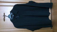 訳あり激安72%オフポールスミス、長袖、ポロシャツ(新品、黒、M)