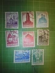 ルーマニア古城切手8種類♪