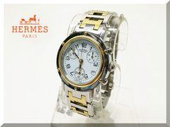エルメス☆クリッパー ボーイズ クロノグラフクオーツ腕時計