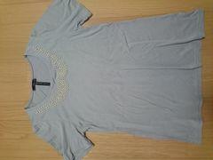 新品 パールであしらった襟が可愛いTシャツ