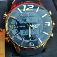 1円★新品★バウンサー/メンズ腕時計◆魅力的ビックアナデジ