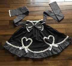 BODY  LINE  白黒ドット柄スカート カジュアルロリータ未使用品