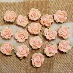 16 コ ☆ 約1.3cm (薄ピンク) 樹脂薔薇