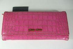 ミュウミュウクロコ型押し長財布 ピンク