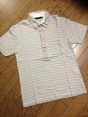 美品MENS MELROSE ボーダーポロシャツ 日本製 メンズメルローズ