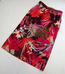 未使用■LA MODA ALBINO/フラワー柄 ロングスカート