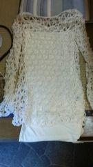 新品チューブトップと編み込み長袖セット