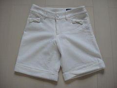 MISCH MASCH/ミッシュマッシュ★ウール 膝上丈パンツ ポケットにリボン付き 36
