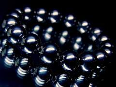 パワーストーン☆天然石!!ヘマタイト磁気アリ§10ミリ数珠ブレスレット§心身強化
